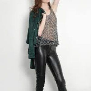 Faux Leather Pants Size Med